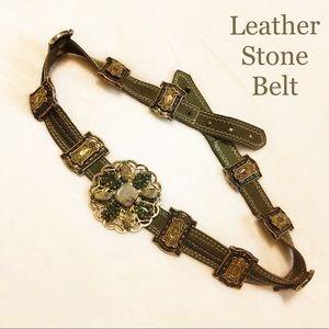 Leather Stone belt